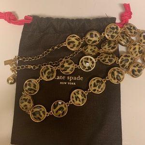 Kate Spade leopard beaded necklace